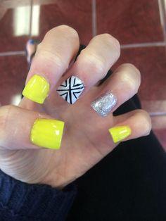 #nails #yellow #summer