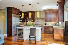 Gorgeous kitchen!  like cabinets   See more great #kitchen ideas here: http://www.pinterest.com/obeo/killer-kitchens/