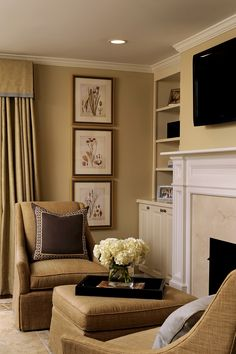 Chic Living Room with a neutral color palette