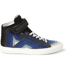 Pierre Hardy Striped Suede High Top Sneakers £390
