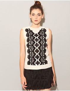 Embroidery Lace ivory top