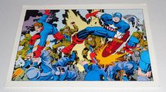 Rare vintage original 1970's Winter Soldier Bucky and Captain America poster pin-up with artwork by Jack Kirby/1970's Marvel Comics pinup poster. 1000's more scarce comic book superhero posters and art pages at SUPERVATOR.COM