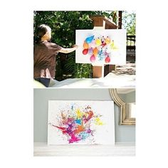 BALLOON DART PAINTING WITH KIDS- DIY painting with children outdoors: just fill paint in balloons, inflate something, play darts and hang the artwork ;-] DIY Outdoor Fun Activity and Art for Kids with Balloons and Color Kids Crafts, Summer Crafts, Projects For Kids, Diy For Kids, Arts And Crafts, Party Crafts, Creative Ideas For Kids, Summer Fun For Kids, Diy Art Projects