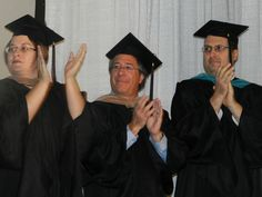 Our amazing faculty cheering on our 2012 grads!