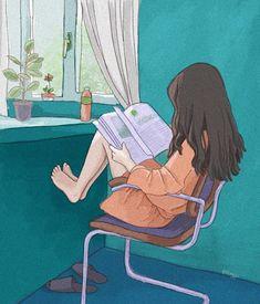 Long time no see Anime Scenery Wallpaper, Cute Anime Wallpaper, Cartoon Wallpaper, Japon Illustration, Illustration Tumblr, Dibujos Cute, Cartoon Art Styles, Anime Art Girl, Anime Girl Drawings