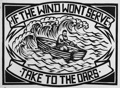 Chris Bourke Art — 'The Wind' Lino Print
