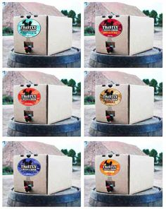 A delicious line-up of Thistly Cross cider packed into handy bag-in-box dispensers with taps.