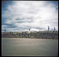 Walkers Jetty Rocks Wells  Maine by MarcAprilPhotography on Etsy