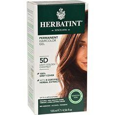 Herbatint Permanent Herbal Haircolour Gel 5D Light Golden Chestnut - 135 ml * Learn more by visiting the image link.
