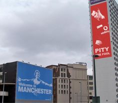 some billboard rivalry in Manchester #MCFC