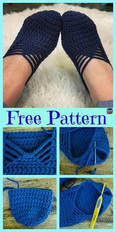 Pretty Crochet Ballet Slippers – Free Pattern #freecrochetpatterns #slippers