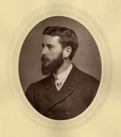 Frank Dicksee (1853-1928) English painter, c. 1880. Woodburytype portrait from Men of Mark published by Lock and Whitfield from 1876-1882.