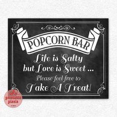 Popcorn Bar saying
