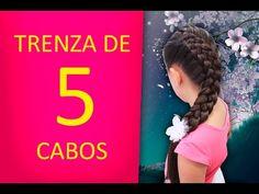 Trenza de 5 Cabos - Paso a Paso - YouTube
