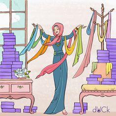 Duckscarves instagram illustration
