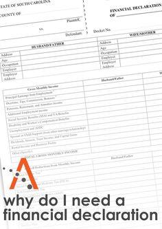 Financial Declaration Form | Authorization For Records Destruction Form Use The Authorization