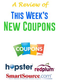 A Look Back at This Week's New Coupons  At the end of each week, I always like to review what great coupons came out in hopes that I didn't miss any. I want to share this list with you too... AFrugalHome.com
