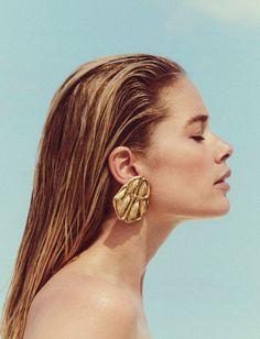 Model: Doutzen Kroes  Photographer: Chris Colls  Fashion Editor: Julie Pelipas  Hair: Oribe  Make Up: Sil Bruinsma  Publication: Vogue Ukraine June 2017