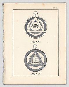 1926 Vintage Print Freemasonry Masonic Symbol by AestheticEsthetik, $8.50