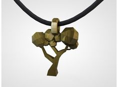 Tree pendant. Designed in cinema 4d for 3D printing. This a render of the final model. Hasn't been printed yet. The looks of the Final printed model depends on chosen material.. Gold, silver, stainless steel or one of the many different materials on www.shapeways.com TwinArt, making products personal.
