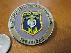 New Jersey Department Of Corrections Nj Challenge Coin Etsy Department Of Corrections Challenge Coins Police Challenge Coins