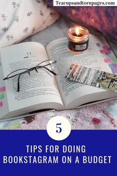 5 Tips for Doing Bookstagram on a Budget - Teacups and Torn Pages Writing Advice, Writing A Book, Writing Humor, Vlog Tips, Starting A Book, Twitter Tips, Book Review Blogs, Book Challenge, Book People