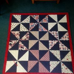 Easy quilt yes! I was looking for that old windmill design