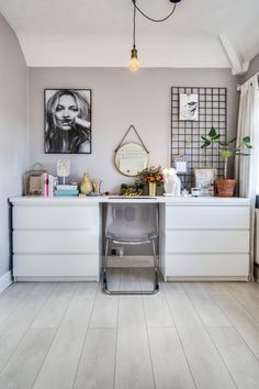 Home office space in Olivia's home, on MADE Unboxed