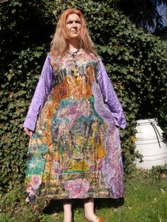 handpainted silkdress size XL. - pinned by pin4etsy.com
