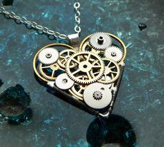 Clockwork Heart Necklace Confidence Elegant by amechanicalmind, $55.00