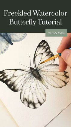 Butterfly Illustration, Butterfly Drawing, Butterfly Painting, Butterfly Watercolor, Watercolor Paintings, Watercolors, Watercolor Portrait Tutorial, Watercolor Portraits, Realistic Paintings