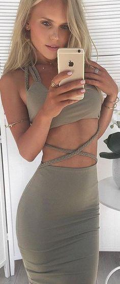 #summer #hildeosland #outfits |Khaki Dress
