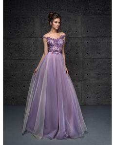 d95dc4dcaf7 Dlhé fialové luxusné spoločenské šaty Frances vhodné na ples
