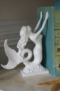 Beach Decor Cast Iron Mermaid Bookend or by ByTheSeashoreDecor, $48.00