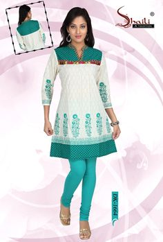 SMART n STYLISH DESIGNER COTTON KURTI FOR GIRLS n WOMEN by Snehal Creation. Alluring Cotton Printed, flair style Kurti/tunic for girls and women.