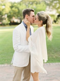 Photography: Lucy Cuneo Photography - www.lucycuneophotography.com Read More: http://www.stylemepretty.com/2015/06/15/charleston-engagement-session-inspiration-full-of-southern-charm/