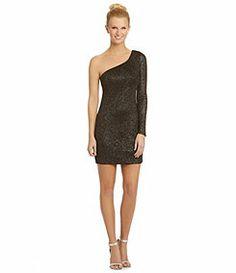 0cb2988eb0 As U Wish OneShoulder Metallic Knit Dress · Winter FormalMilitary BallJunior  ...
