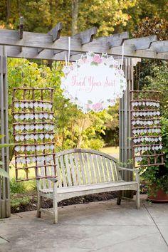 Garden Wedding Escort Cards