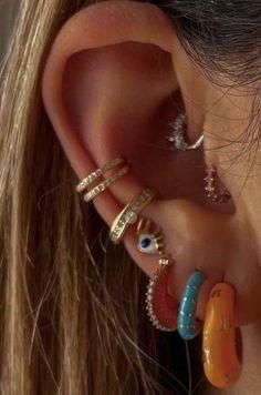 Nail Jewelry, Cute Jewelry, Jewelry Accessories, Wire Jewelry Designs, Funky Jewelry, Hippie Jewelry, Bijoux Piercing Septum, Ears Piercing, Pretty Ear Piercings