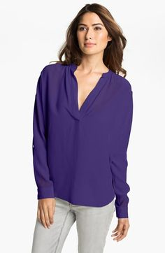Two by Vince Camuto Split Neck Tunic Blouse SALE $35