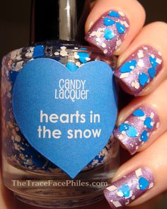 The TraceFace Philes: Candy Lacquer Hearts in the Snow!