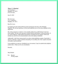 cover letter - Writing A Professional Cover Letter