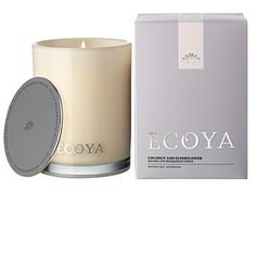 Room Décor & Home Accessories - Living & Giving - Ecoya Coconut and Elderflower Madison Candle 80hr