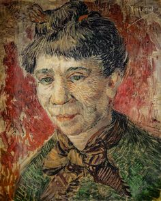 Vincent van Gogh - Head of a Woman, 1887 (Kunstmuseum Basel Switzerland) at Gauguin-to-Picasso Exhibit - Philllips Collection Washington DC (Exhibit Catalog Book)