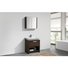 Shop for KubeBath Levi 30-inch Modern Single Sink Bathroom Vanity. Get free delivery at Overstock.com - Your Online Furniture Outlet Store! Get 5% in rewards with Club O!