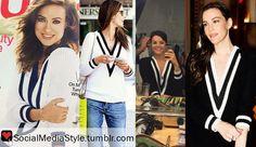 Olivia Wilde vs Alessandra Ambrosio vs Jaimie Alexander vs Liv Tyler: Who Wore It Better? Buy their black and white v-neck sweaters, here!