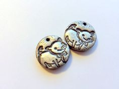 Playful Piglets Handmade Polymer Clay Focal Beads by PennysLane