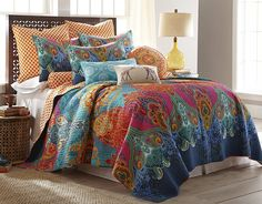 Levtex Mackenzie Full/Queen Cotton Quilt Set Navy, Red, Pink, Orange * You can find out more details at the link of the image. (This is an affiliate link) King Quilt Sets, Queen Quilt, King Quilts, Bed Quilts, Western Bedding, Rustic Bedding, Quilt Bedding, Twin Quilt, Bedroom Decor
