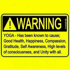 YOGA WARNING