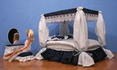 Barbie Canopy Bed with Vanity
